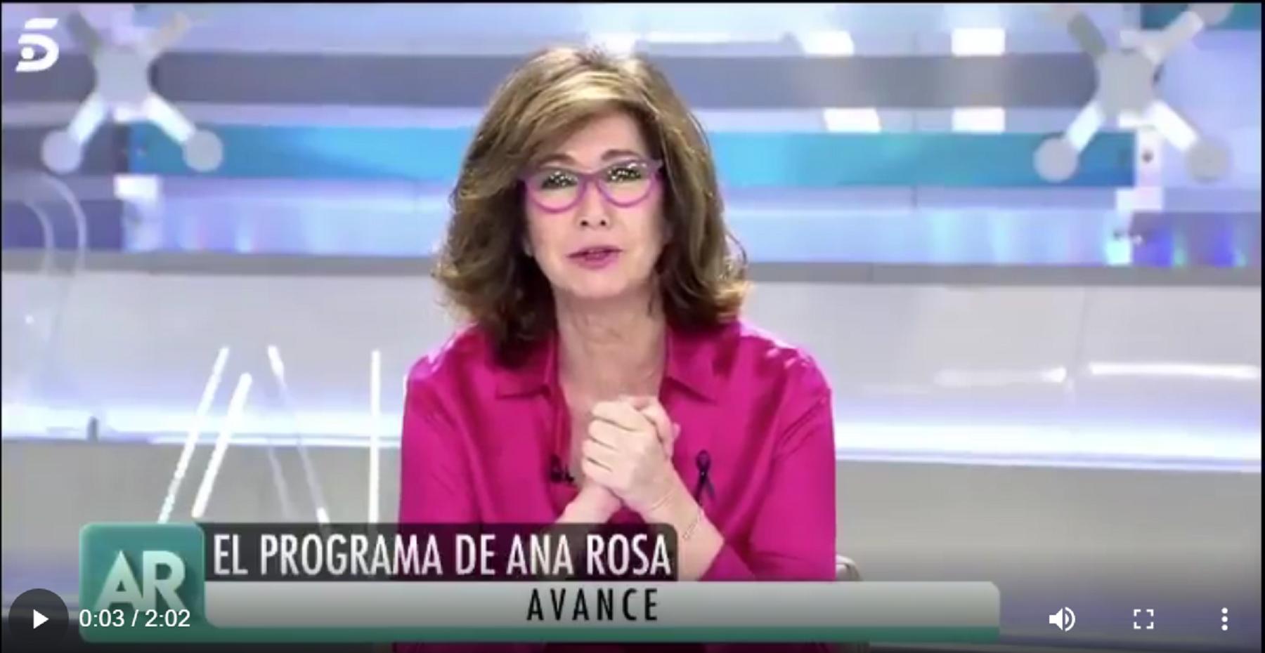 Ana Rosa: «Las manifestaciones que comenzaron en la calle Núñez de Balboa de la Capital ya se han extendido por otros barrios de Madrid y a otras ciudades de España»