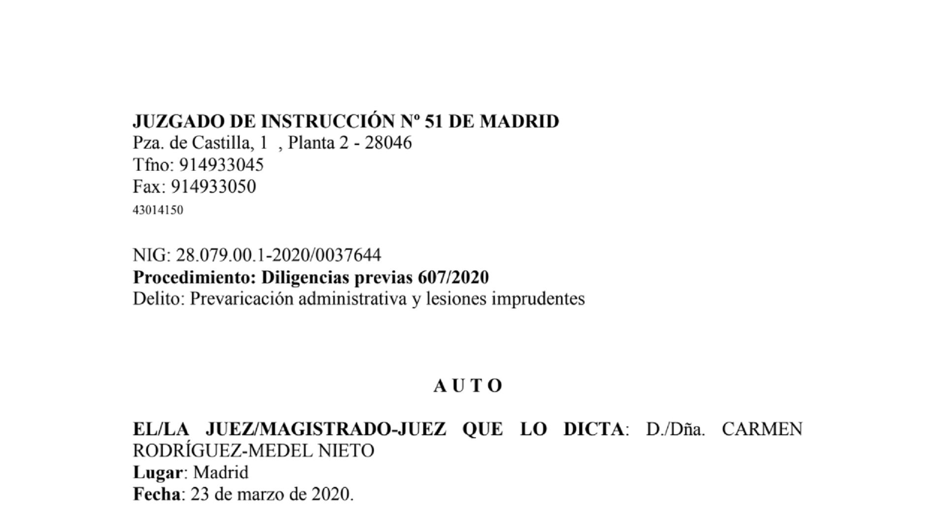 El Juzgado de Instrucción número 51 de Madrid cita como investigado al Delegado de Gobierno de Madrid José Manuel Franco a causa de las celebración de las manifestaciones feministas del 8M